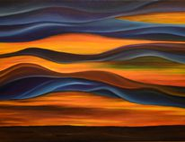 Prairie Fire by Jay Bigam is one of many pieces up for sale in an art auction to support the Red Cross's efforts to help Fort McMurray evacuees. Photo supplied.