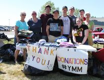 PAUL KRAJEWSKI - HIGH RIVER TIMES/POSTMEDIA NETWORK. Students from École Highwood High School, with help from family and volunteers, held a bottle and donation drive to raise money for Fort McMurray evacuees on May 6 and 7.