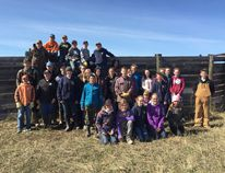 Supplied Bezanson 4-H Multi Club beef project members at their pre-achievement day on April 10.