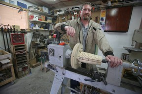 Steve Larocque, owner of Prairie Winds Interiors and Refinishing, in his shop in Winnipeg.