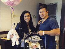 Jordin and Jen Tootoo, and baby Siena.