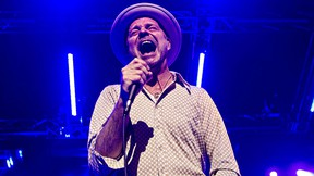 Gord Downie of the Tragically Hip performs at Rexall Place in Edmonton on Thursday, Feb. 12, 2015. (Codie McLachlan/Postmedia Network)