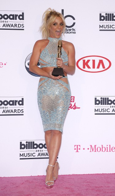 Keeping up with the sheer and sequin theme, Britney donned this mint number by Charbel Zoe. Judy Eddy/WENN.com