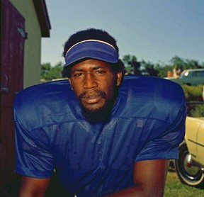 This is a 1972 file photo showing Baltimore Colts defensive end Bubba Smith. The Concussion Legacy Foundation says former NFL defensive end Bubba Smith was diagnosed with the brain disease CTE by researchers after his death. (AP Photo/File)