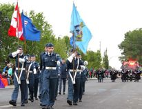 PAUL KRAJEWSKI HIGH RIVER TIMES/POSTMEDIA NETWORK. 187 Foothills Air Squadron took parade in the Little Britches Parade on May 21, 2016 in High River.