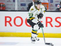 Mitchell Marner of the London Knights skating during from the opening game of the Memorial Cup in Red Deer, Alta., on May 20, 2016. (Rob Wallator/CHL Images)