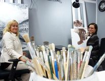 Owners of Final Touch Art Studios Sharon Kulhavy and Carly Marciniak pose in their art studios and gallery and are celebrating their grand opening on May 28.