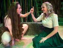Brenton Wilcox plays the title role and Rachel Tomasic is Jane in the Original Kids production of Tarzan. (MIKE HENSEN, The London Free Press)