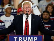 In this May 24, 2016 file photo, Republican U.S. presidential candidate Donald Trump speaks at a campaign event in Albuquerque, N.M. (AP Photo/Brennan Linsley, File)