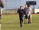 Kayla Isomura/High River Times/Postmedia Network. Mitchell Lee, 12, completes a running drill during a National Youth Football Organization practice at École Highwood High School on May 13.