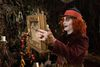 """This image released by Disney shows Johnny Depp in a scene from """"Alice Through the Looking Glass,"""" premiering in US theaters on May 27. (Peter Mountain/Disney via AP)"""