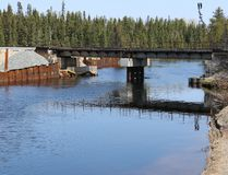 The scene of the Makami River railway bridge crossing as it is today. This is where a CN freight train hauling oil tanker cars derailed, crashed and burned in March 2015. A Timmins law firm is investigating to determine if there are any long-lasting after effects from the incident.