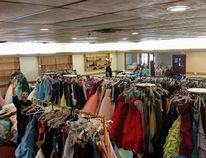 """Dubbed """"Operation Prom Dress,"""" the group has rented out the BMO Curling Rink inside the Leduc Recreation Centre (LRC) on Sunday, May 29 from 11 a.m. to 7 p.m. to allow for soon-to-be grads from Fort McMurray to peruse their wide selection and satisfy their grad dress/accessory needs with ceremonies approaching quickly. SUBMITTED"""