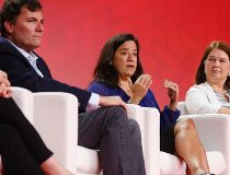 MPs, from left, Dominic LeBlanc, Jody Wilson-Raybould and Jane Philpott speak onstage at the 2016 Liberal Biennial Convention in Winnipeg, Friday, May 27, 2016. THE CANADIAN PRESS/John Woods