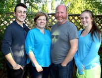 PAUL KRAJEWSKI HIGH RIVER TIMES/POSTMEDIA NETWORK. Fort McMurray evacuees Wesley, Lois, Mark and Ella Coull, are temporarily living in High River and making the most of their time here. The family thanked the town and its residents for graciously welcoming and supporting them.