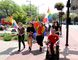 Pride Chatham-Kent held a march through downtown Chatham on Friday to raise awareness about the group and its mission of diversity and inclusiveness. The event started at the Cultural Centre before making its way down King Street to the Chatham-Kent Civic Centre. (Trevor Terfloth/The Daily News)