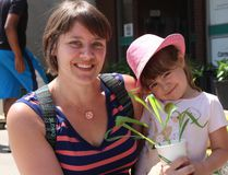 <p>Melanie Maloney and daughter Maya, four, were happy to collect some plants for their garden, at the Incredible Edible Plant Festival, on Saturday May 28, 2016 in Cornwall, Ont. Todd Hambleton/Cornwall Standard-Freeholder/Postmedia Network