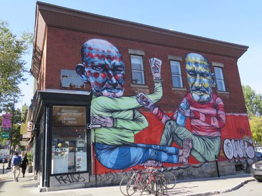 The Plateau and Mile End districts of Montreal are known for lively streets and urban art. JIM BYERS/Special to Postmedia Network