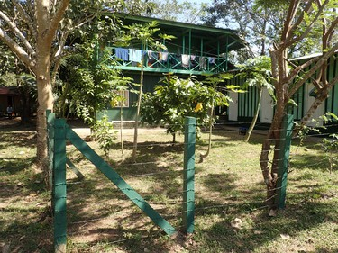 A modest house called Casa Verde in the village of San Andres in Nicaragua's Bosawas Biosphere Reserve in February 2016. A Change for Children dental brigade stayed in the house while running a clinic in the village. (Max Maudie photo)