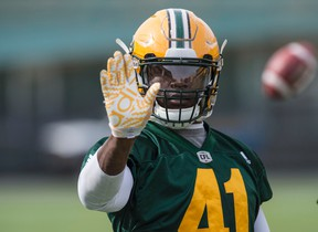 According to head coach Jason Maas, DE Odell Willis, shown here at practice Wednesday, says the Eskimos are like family, and families fight. (Shaughn Butts)