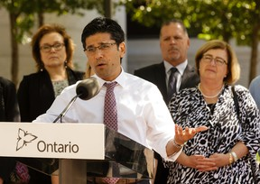 Yasir Naqvi, Minister of Community Safety and Correctional Services unveils the new task force report into the jail at the Ottawa courthouse on June 1, 2016. (Jana Chytilova)