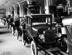For most of its life, the Ford Model T was built and assembled at the company's Highland Park in Detroit, shown here with production for the 1926 model year. But for the first year of the Model T's life, in 1908, the car was built at Ford's Piquette Avenue plant, which has now been opened to the public. Also open to the public is Henry Ford's first office, on the second floor of the Piquette plant.