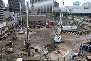 Construction continues on True North Square, in Winnipeg.   Friday, June 3, 2016.   Sun/Postmedia Network