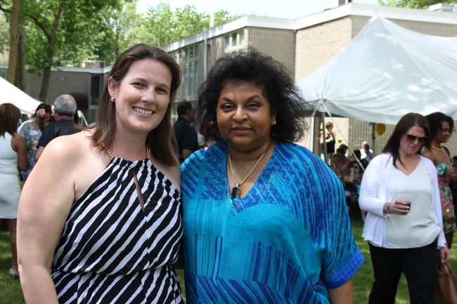 <p>Kim Lauzon and Dr. Rachel Navaneelan at the Rachel's Kid's Garden Party on Saturday June 4, 2016 in Cornwall, Ont. Navaneelan said the event was getting bigger every year with about 500 attending this year.</p><p>Lois Ann Baker/Cornwall Standard-Freeholder/Postmedia Network