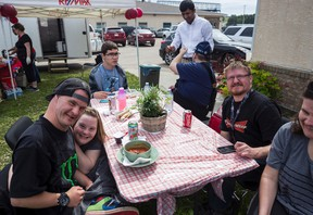 E.C.H.O. clients at a disability awareness barbecue outside of E.C.H.O. offices on Thursday June 2, in the tradition of National Access Awareness Week. Hannah Lawson   Whitecourt Star