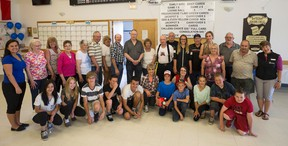 Whitecourt seniors and students from Percy Baxter and St. Joseph came together on Monday, June 6 for a floor curling match as part of celebrating Seniors Week. Various activities are scheduled throughout the week. Hannah Lawson | Whitecourt Star