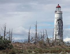 First lit in late 1858, the Nottawasaga Lighthouse, more commonly referred to as the Collingwood Lighthouse, is in need of a major restoration project. The Nottawasaga Lighthouse Preservation Society is raising money. The lighthouse was one of six imperial tower lighthouses built with government funds on Lake Huron and Georgian Bay between 1855 and 1859. (Nick Brindisi photo)