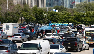 Toronto Argos tailgate party at Ontario Place across from BMO Field in Toronto, Ont. on Saturday June 11, 2016. Jack Boland/Toronto Sun/Postmedia Network