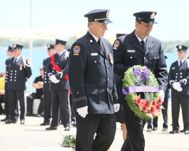 The City of Toronto Fire Services and the Toronto Professional Fire Fighters Association honour the addition of nine fallen firefighters to the Memorial Honour Roll on Sunday June 12, 2016. The ceremony took place at the Harbourfront Fire Station in Toronto.Veronica Henri/Toronto Sun/Postmedia Network