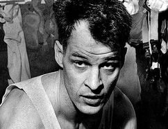 A young Gordie Howe in the Red Wings dressing room at the old Detroit Olympia, circa 1950s. (detroitnews.com)