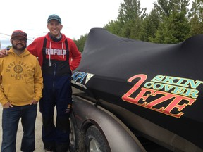 The local team of Chris Pawlowiez (left) and Jason Paquette, cousins who live in Sudbury, were the big winners at the Top 50 Pike Tournament Trail stop on Whitewater Lake in Azilda on Sunday.