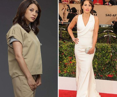 """Aleida Diaz, played by Elizabeth Rodriguez. FUN FACT: Rodriguez is only 2 years older than Dascha Polanco, who plays her daughter on """"OITNB"""". (Handout/WENN.COM)"""