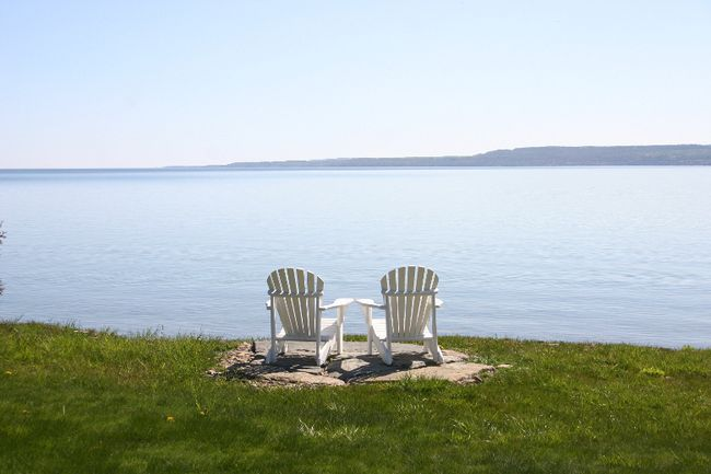 The waterfront view of Georgian Bay at Cobble Beach in Kemble, ON., on May 17, 2016. (John Williams/Postmedia Network)