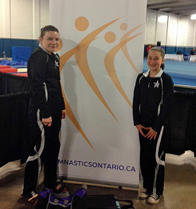 Mackenzie McAllister, at left, and Victoria Simard at provincials.