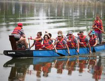 Last year's Dragon Boat festival provided a fun focal point for Canada Day festivities at Island Park. It's back this year. The more paddlers the merrier. (file photo)