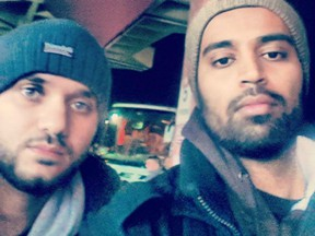 Mohammed El Shaer (left) with Ahmad Waseem (right) (Twitter)