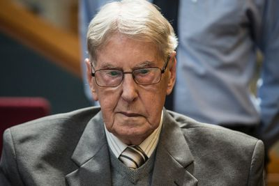 Reinhold Hanning appears in court in Detmold, Germany, where he was found guilty on June 17, 2016 of aiding and abetting the murders of 100,000 Jews at Auschwitz-Birkenau in his role as a Nazi SS guard. (Craig Robertson/Toronto Sun)