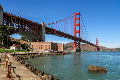 <b>Fort Point Light, California:</b> This San Francisco landmark isn't the easiest one to find, but the Fort Point Light, located under the Golden Gate Bridge, has been on site since 1864 and it's light can be seen for miles. (Getty Images)