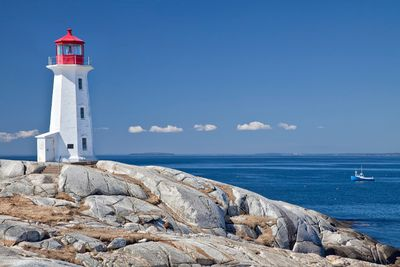 <b>Peggy's Cove Lighthouse, Nova Scotia:</b> Peggy's Cove Lighthouse is one of the world's most famous lighthouses and one of Nova Scotia's biggest tourist attractions. There are many myths about the name of the lighthouse, including one saying a girl named Peggy came ashore here after being the only survivor of a shipwreck. (Getty Images)