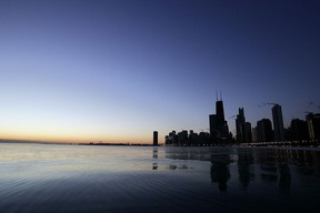The Chicago skyline along Lake Michigan. (JEFF HAYNES/AFP/Getty Images)