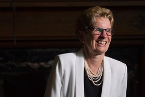 Ontario Premier Kathleen Wynne is photographed in her office in Queen's Park June 9, 2016. (THE CANADIAN PRESS/Chris Young)