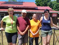 Here are Grace Schmidt, Assistant Manager, Paul Beduhn, Park Manager, Anna Best, Eco-Tourism Coordinator, and Noelle Schmidt, Gordon's Park Eco-Tourism Coordinator, eager for summer visitors and to share their knowledge and enthusiasm. Photograph by Rita Gordon for The Sudbury Star.