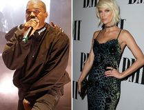 "Kanye West and Taylor Swift. (<A HREF=""http://www.wenn.com"" TARGET=""newwindow"">WENN.COM</a>)"