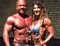 Married couple Vern and Kim Derksen have both qualified for national bodybuilding competition. (submitted photo)