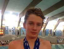 Nose Creek Swim Association's Keegan Brown with his seven gold medals won at the 2016 Age Group Trials in Lethbridge, June 17-19, 2016. Alexx Diep/Handout/Airdrie Echo/Postmedia Network
