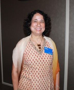 Dr. Rajna Saraf spoke to the Rotary Club of Sarnia on June 20 about the impact of reduced medical fees on Ontario doctors and patients.  CARL HNATYSHYN/SARNIA THIS WEEK